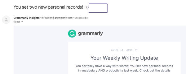 grammarly email subject line