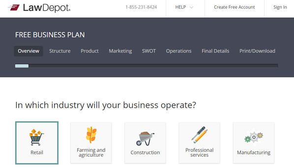legal template for business plan