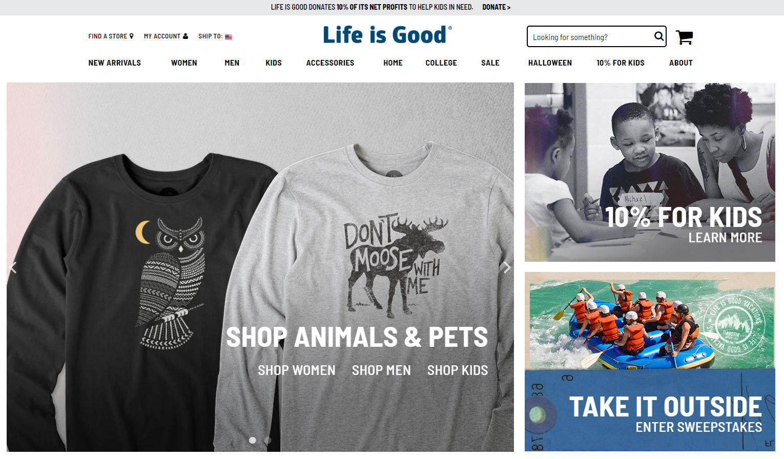 life-is-good-shirts-website