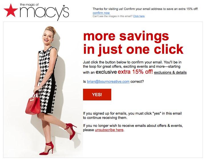 macys email