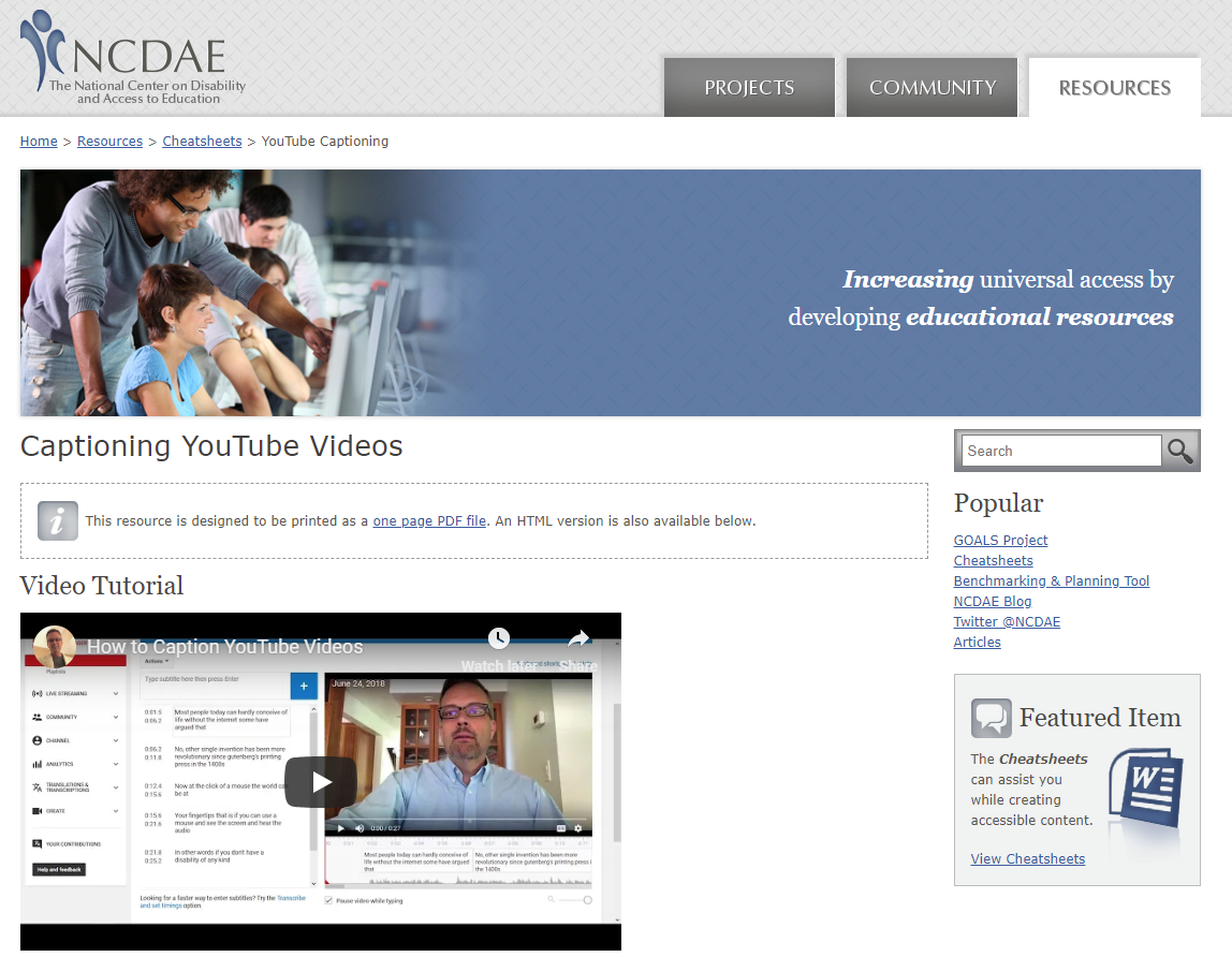 ncdae-youtube-captioning